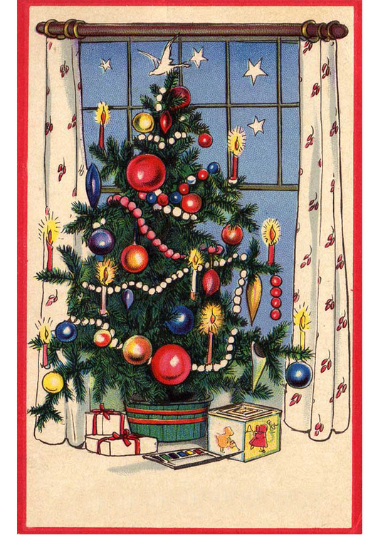 Image christmas tree with presents