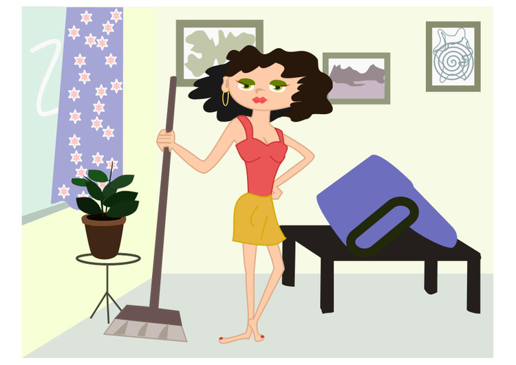 Image cleaning lady
