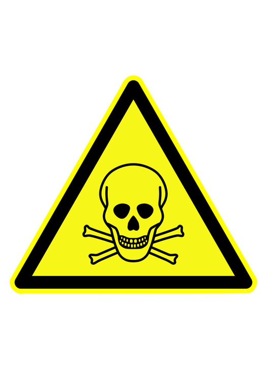 Image danger symbol - toxic substances