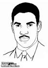 Coloring page Denzel Washington