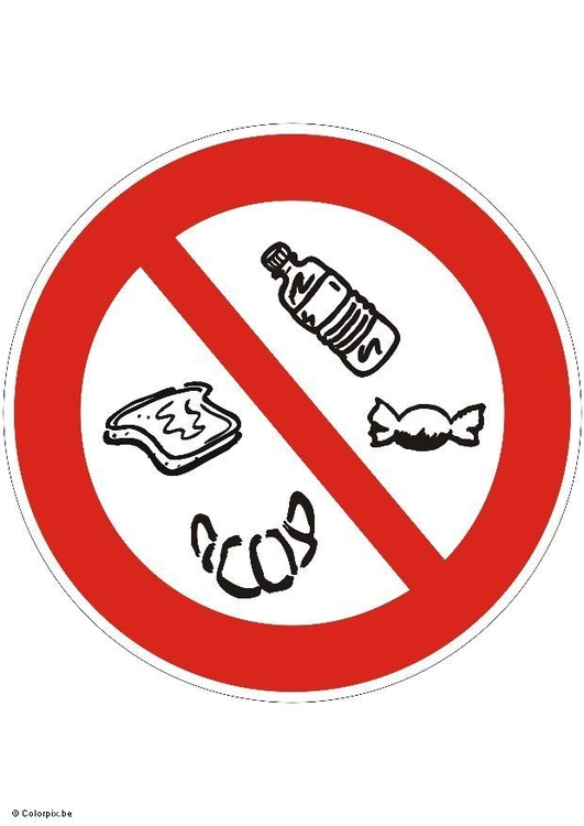 Image do not eat snacks
