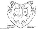 Coloring page dragon mask