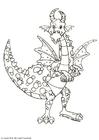 Coloring page dragon