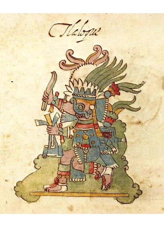 Image Drawing of Tlaloc