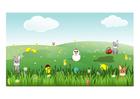 Image Easter scene