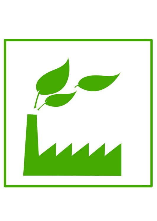 Image eco-friendly factory