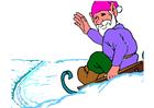 Image elf on sledge