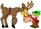 Image elf with reindeer