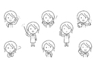 Coloring page emotions - teacher