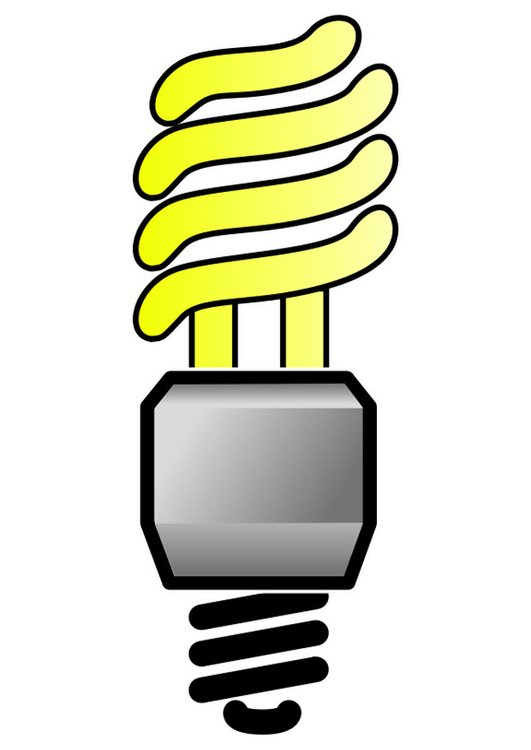 Image energy saving light bulb