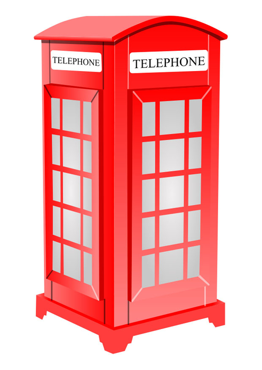 Image English telephone booth