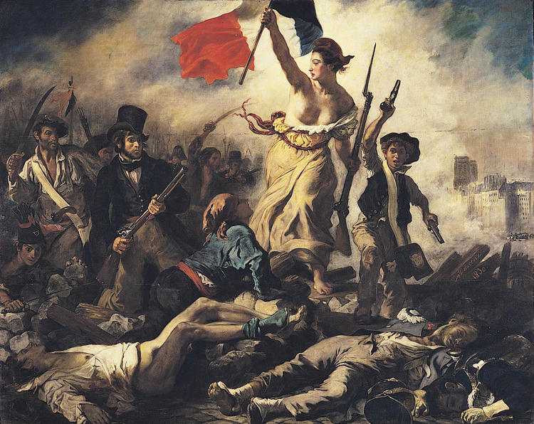 Image Eugene Delacroix - Liberty Leading the People -French revolution
