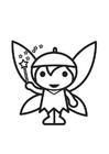 Coloring page Fairy - Elf