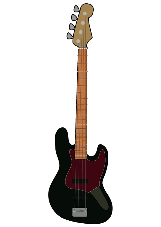 Image Fender electric bass guitar