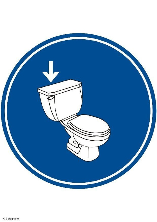 Image flush the toilet