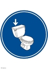Image flush the toilet