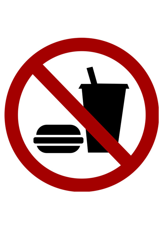 Image food and drink prohibited
