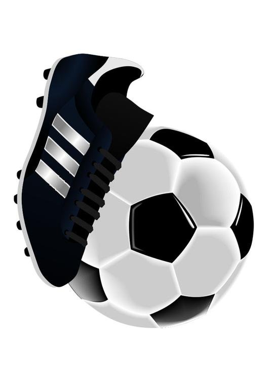 football shoe and ball