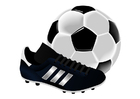 Image football shoe and ball