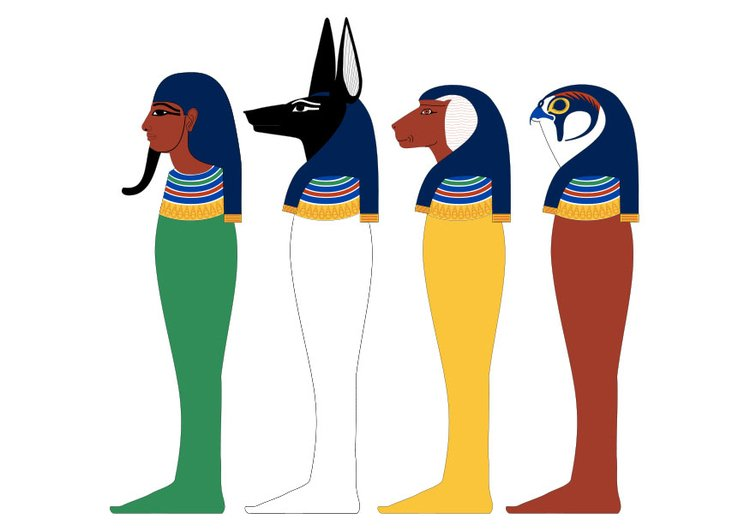 Image four sons of Horus
