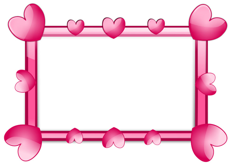 Image frame of hearts