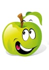 Image fruit - green apple