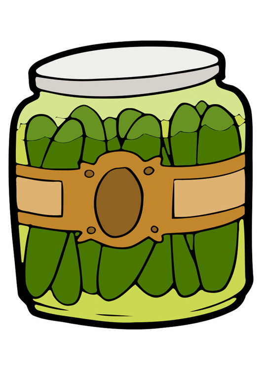 Image gherkins in jar