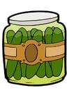 Image gherkins in jar