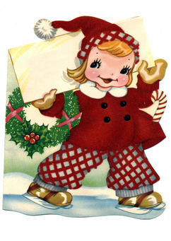 Image girl in christmas costume