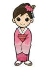 Image girl in kimono