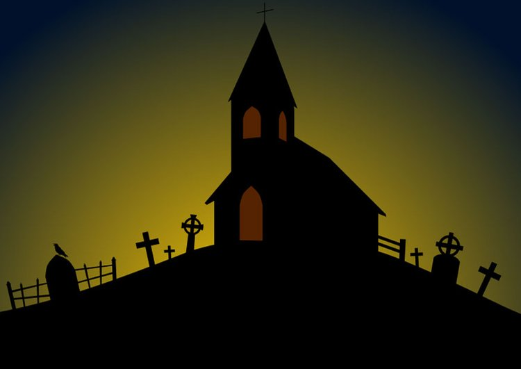 image halloween church