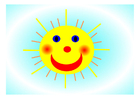 Image happy sun