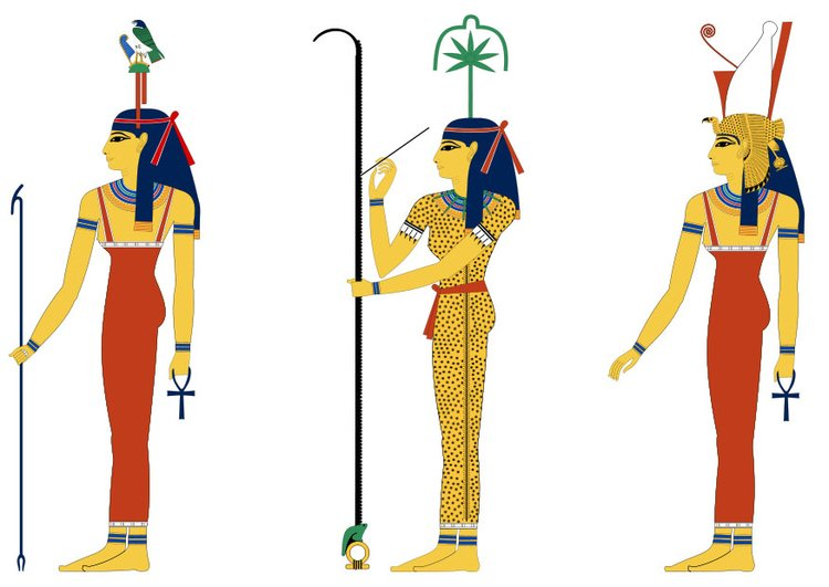 Image Hathor seshat and Mut