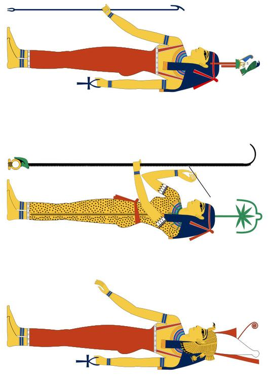 Hathor seshat and Mut