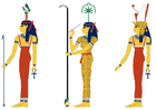 Images Hathor seshat and Mut