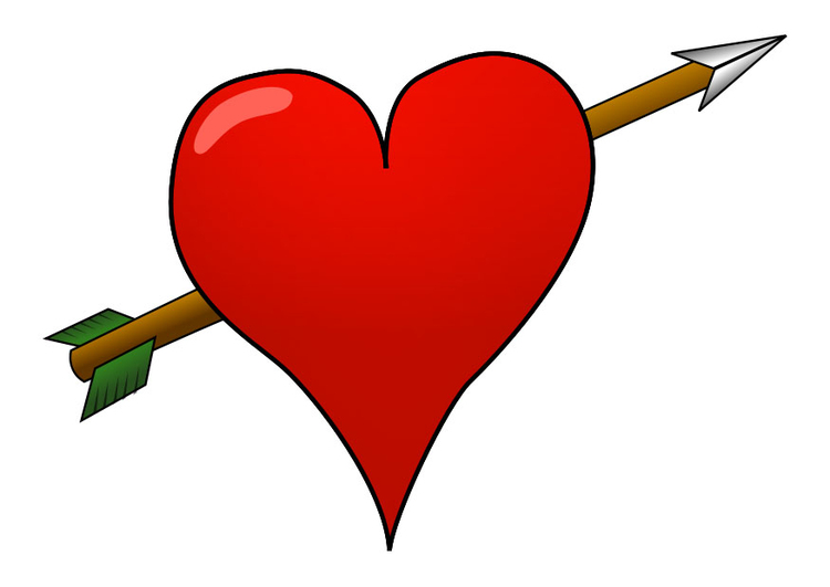Image heart and arrow