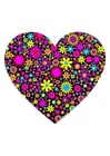Image heart with flowers