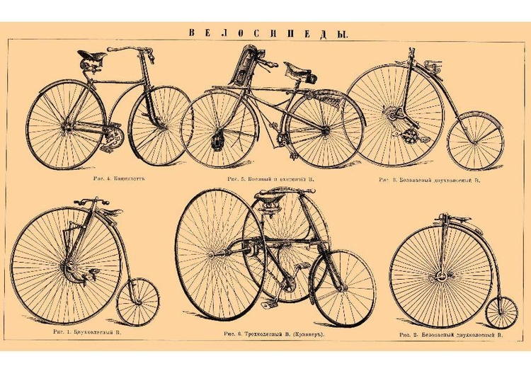 Image historic bicycles