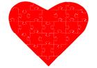 Image jigsaw heart