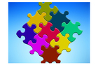Image jigsaw puzzle pieces
