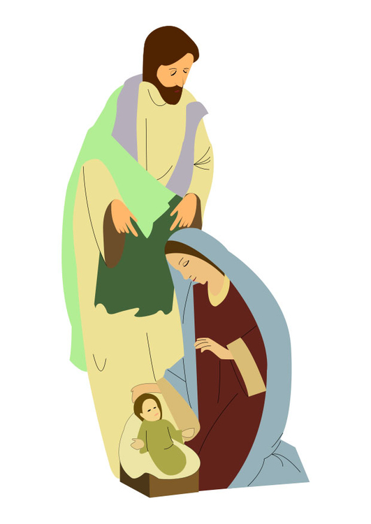 Image Joseph, Mary and Jesus