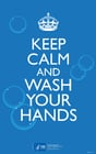 Image keep calm and wash your hands