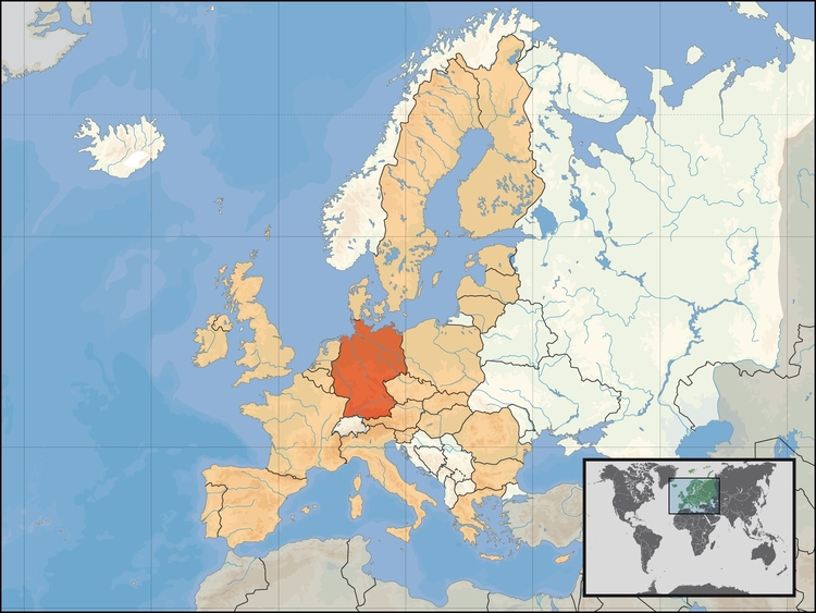 Image Location Germany in EU 2008