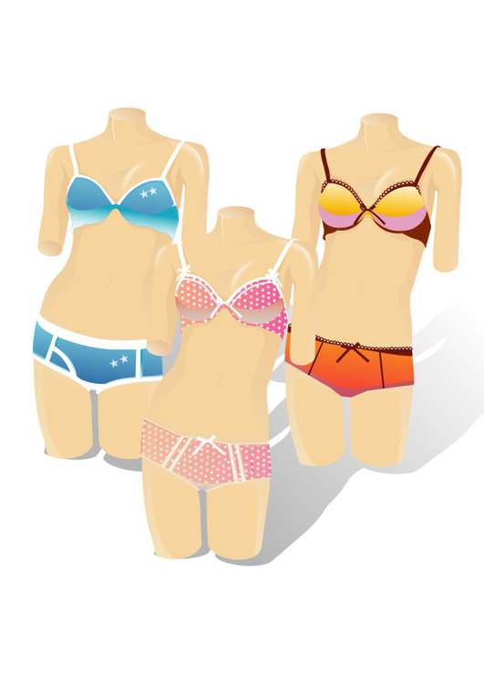 Image mannequins with bikinis