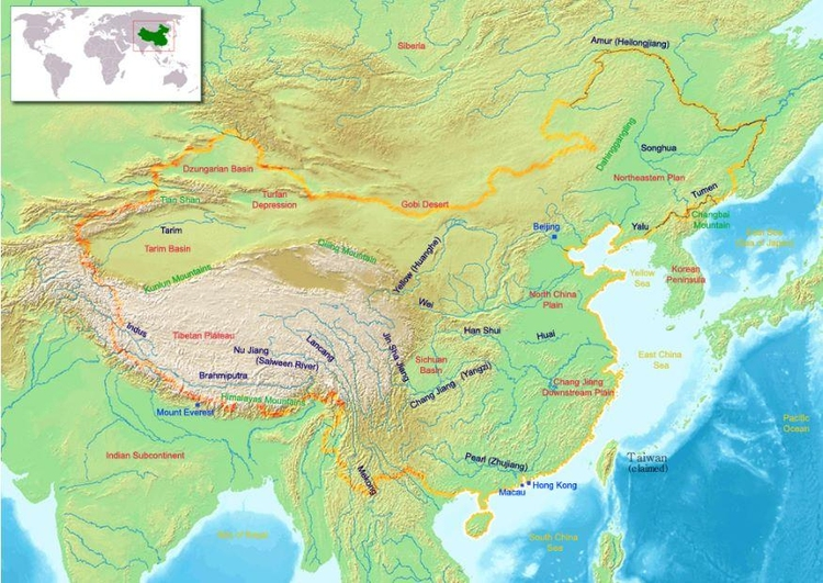 Image map of China 2