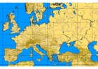 Images map of Europe with geographic features
