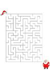 Image maze Santa Claus