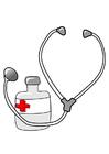 Image medicine and stethoscope