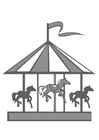 Coloring page merry-go-round