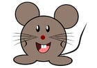 Coloring pages mouse